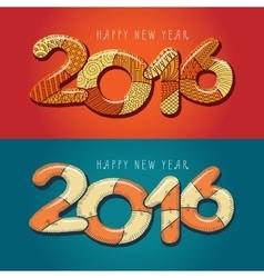 Happy new year 2016 Decorative vintage vector image