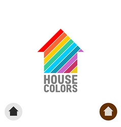 House paint logo vector image