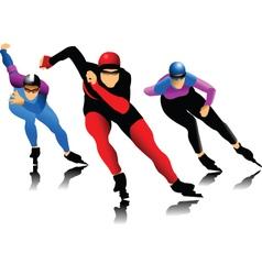Ice skater vector