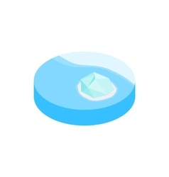 Iceberg in antarctica isometric 3d icon vector image