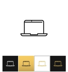 Laptop sign or modern outdoors computer vector