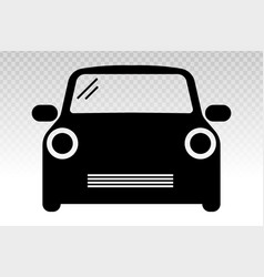 Luxury car vehicle front view flat icon vector
