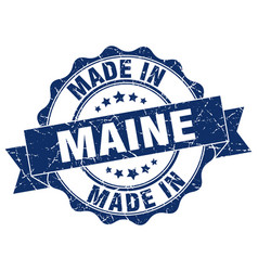 made in maine round seal vector image