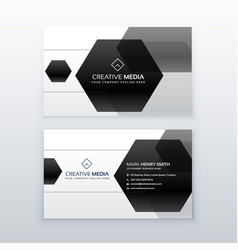 Modern business card design made with black vector