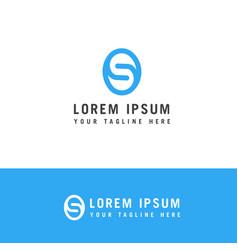 modern creative letter s logotype creative vector image