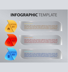 modern infographics with transparent rectangle vector image