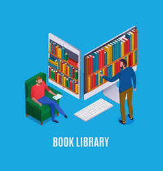 online library isometric vector image
