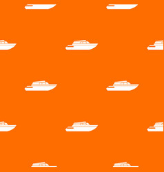 Planing powerboat pattern seamless vector