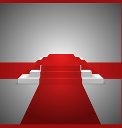 podium design element red carpet background vector image vector image