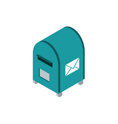 postbox correspondence postal mail isometric vector image