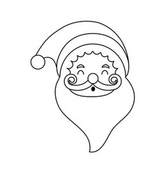 Santa claus christmas character icon image vector