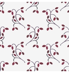 Seamless watercolor pattern with branches on the vector image