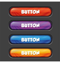 Set colorful buttons vector