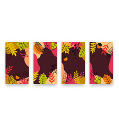 set modern abstract autumn backgrounds vector image