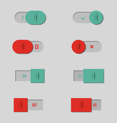 set of buttons and switches vector image