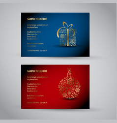 Set of christmas new year banners 2012 vector