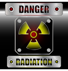 Set symbols radioactive danger vector