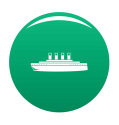Ship retro icon green vector