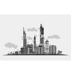 Silhouette for urban area of city Panorama vector