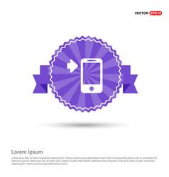 smartphone icon - purple ribbon banner vector image