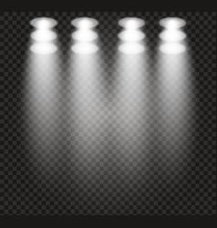 spotlight light scene vector image