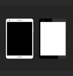 tablet mockups with blank screens vector image