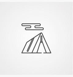 tent icon sign symbol vector image
