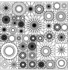 Tile seamless pattern with spirograph Mandalas in vector image