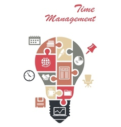 Time management infographics concept vector