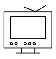 tv thin line icon monitor vector image