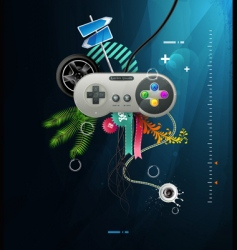 vector joystick with buttons vector image