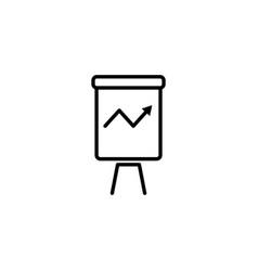 Web line icon flipchart graph black on white vector