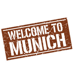 Welcome to munich stamp vector