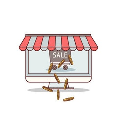 Isolated cartoon get rich from online business vector image vector image