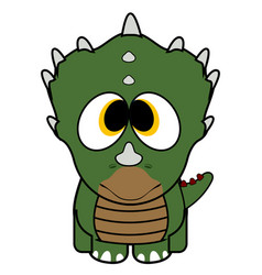 isolated cute dinosaur vector image
