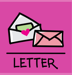 letter hand-drawn style vector image vector image