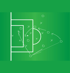 soccer or football game strategy plan vector image