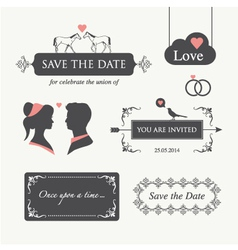 Wedding invitation design element editable vector
