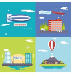 Advertisement Commercial Promotion Poster Symbols vector image