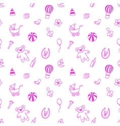 Seamless pattern for fabric with elements of vector image vector image