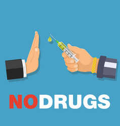 stop drugs concept vector image