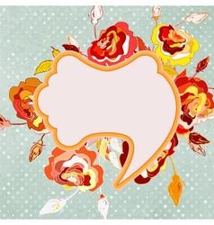 Vintage floral frame EPS 8 vector image