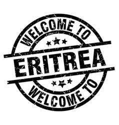 welcome to eritrea black stamp vector image vector image