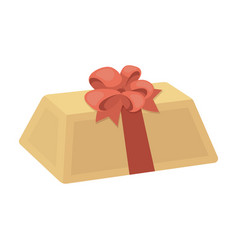 a flesh-colored gift with a red bow sweet present vector image
