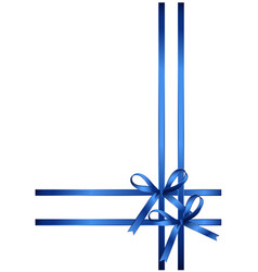 beautiful gift bows isolated on white background vector image vector image