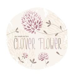 Clover circle vector image vector image