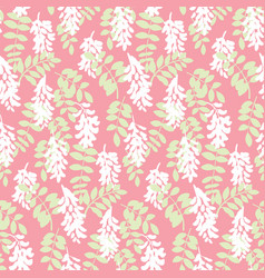 elegant seamless pattern with white flowers vector image