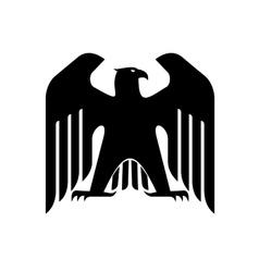 Majestic black eagle vector