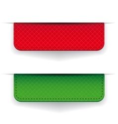 Red and green ribbon set vector image