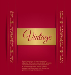 Royal vintage on a burgundy background vector image vector image